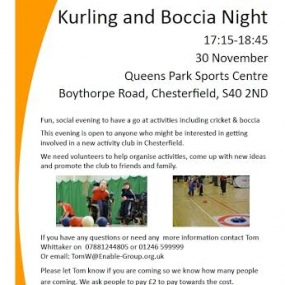 Kurling and Boccia Night