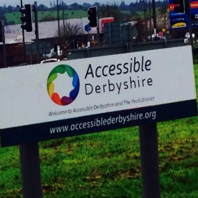 Accessible Derbyshire Sign