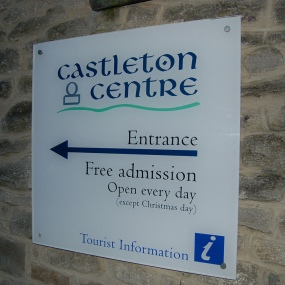 Castleton Visitors Centre Sign