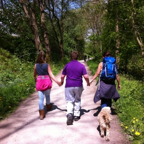 Walking on the Tissington Trail