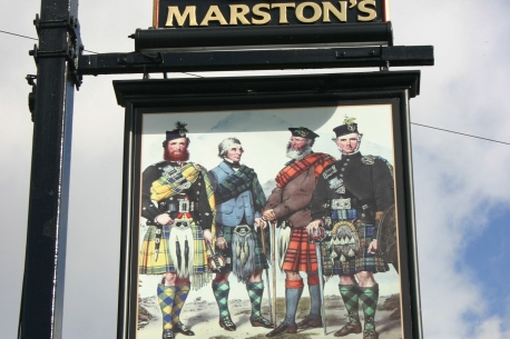 The Scotsmans Pack Sign