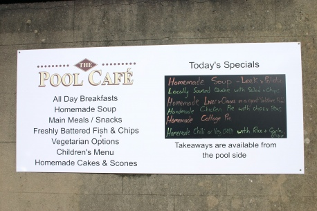 Pool Cafe Menu